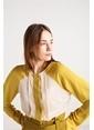 Love'n Fashion Paris Pati Nervür Detaylı Gömlek Renkli